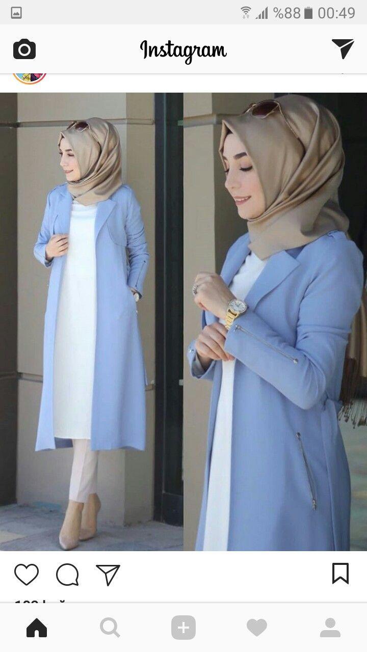 pint g on tesettür yelek tunik kap elbise | muslim