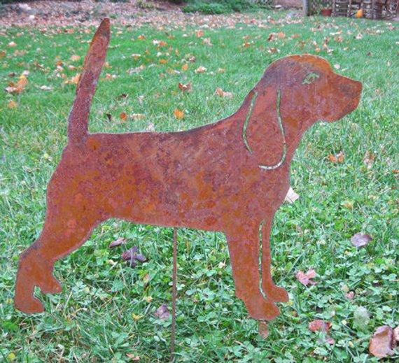 Beagle Garden Stake Or Wall Hanging Pet Memorial Lawn Art