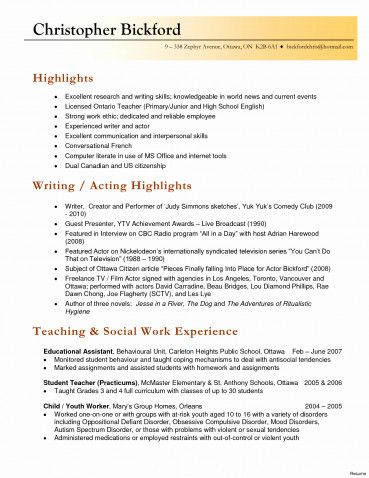 20 Teachers Resume Sample Free Tamplate Pinterest