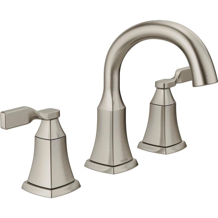 Delta Rila 8 In Widespread 2 Handle Bathroom Faucet In Spotshield Brushed Nickel 35774lf Sp The Home De Bathroom Faucets Bathroom Sink Bathroom Sink Faucets [ 1000 x 1000 Pixel ]