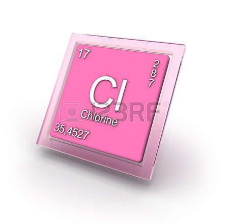 Cloro, signo del elemento químico Chlorine Cl Elementos - copy ubicacion de los elementos en la tabla periodica pdf