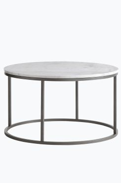 Ellos Home Sofabord Accent ø 85 Cm Rundt Med Plate Av Marmor Og Stamme Metall Da Er Et Naturmateriale Det Normalt At Små Avvik I