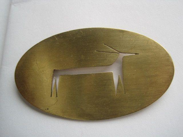 Modernist Brass Cut Out ...