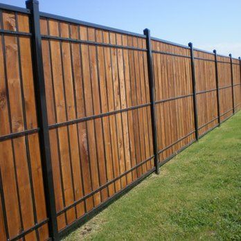 Oz Post Wood And Wrought Iron Yelp With Images Fence Design