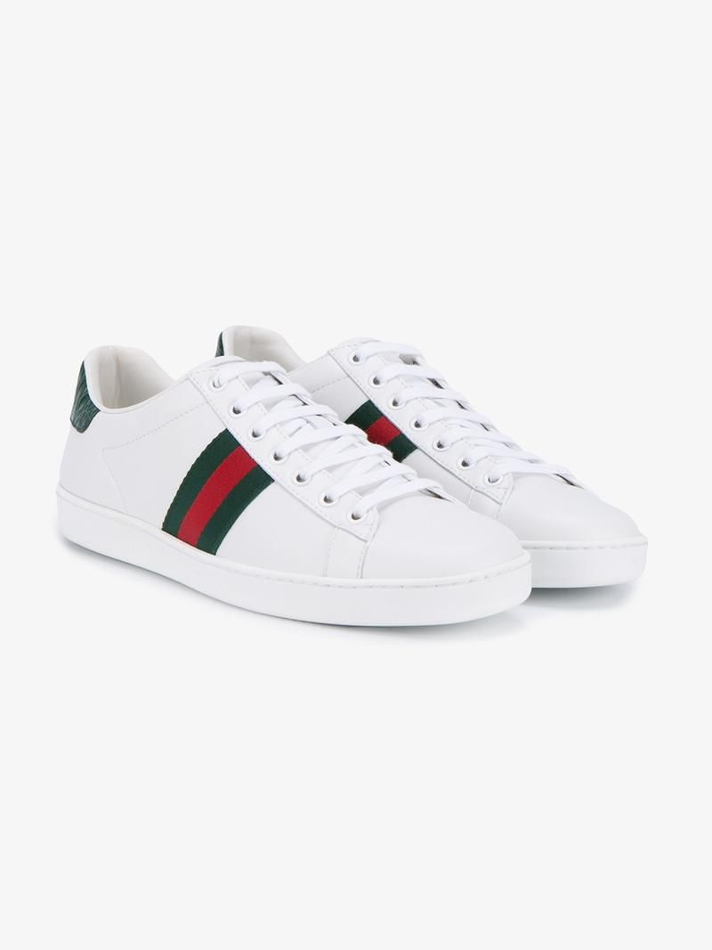 GUCCI Striped Sneakers. #gucci #shoes