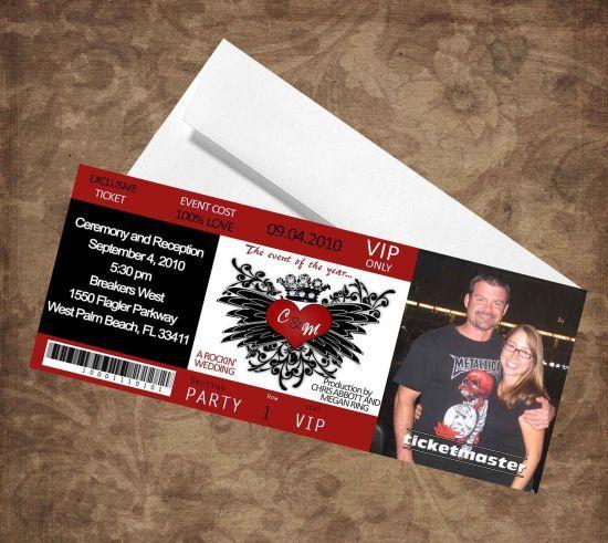 Free Concert Ticket Template Concert Ticket Wedding Invitation Envelopes  Free Concert Ticket .