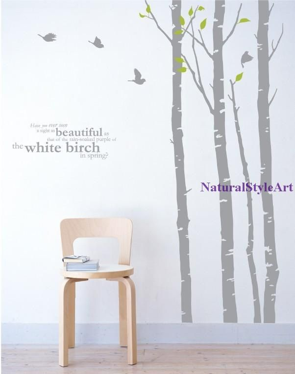 wall decals, children wall decals, vinyl wall decal ,wall stickers, nursery wall stickers ,tree wall decals, tree wall art---Love Tree. $82.00, via Etsy.