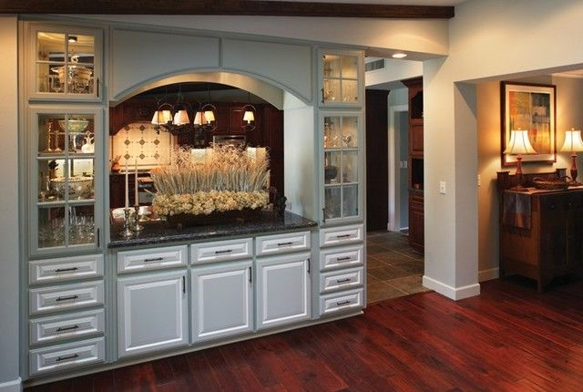 White Built In Cabinets