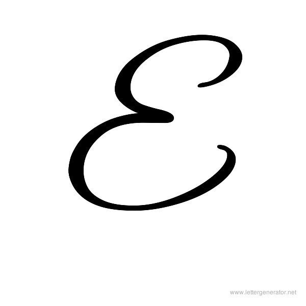 Cursive Letter E Titan Northeastfitness Co