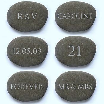 Engraved gift stones