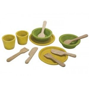 Plan Toys - Tableware SetThis gorgeous wooden tableware set is bound to last for  sc 1 st  Pinterest & Plan Toys - Tableware Set:This gorgeous wooden tableware set is ...