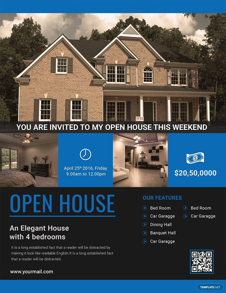 Open House Viewing Event Flyer Template Free Jpg Illustrator Word Apple Pages Psd Publisher Template Net Open House Flyer Open House House Viewing