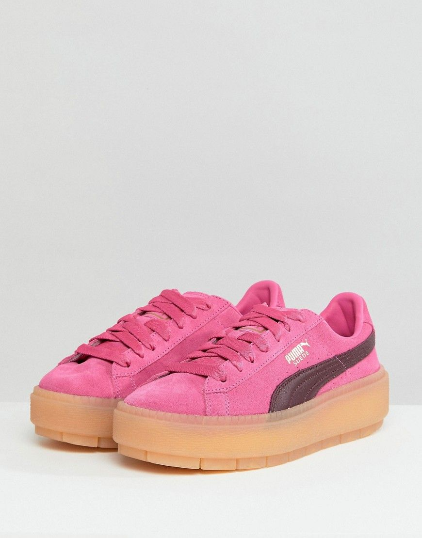 Puma Trace Platform Sneakers In Pink And Black - Pink 0f30c48e1