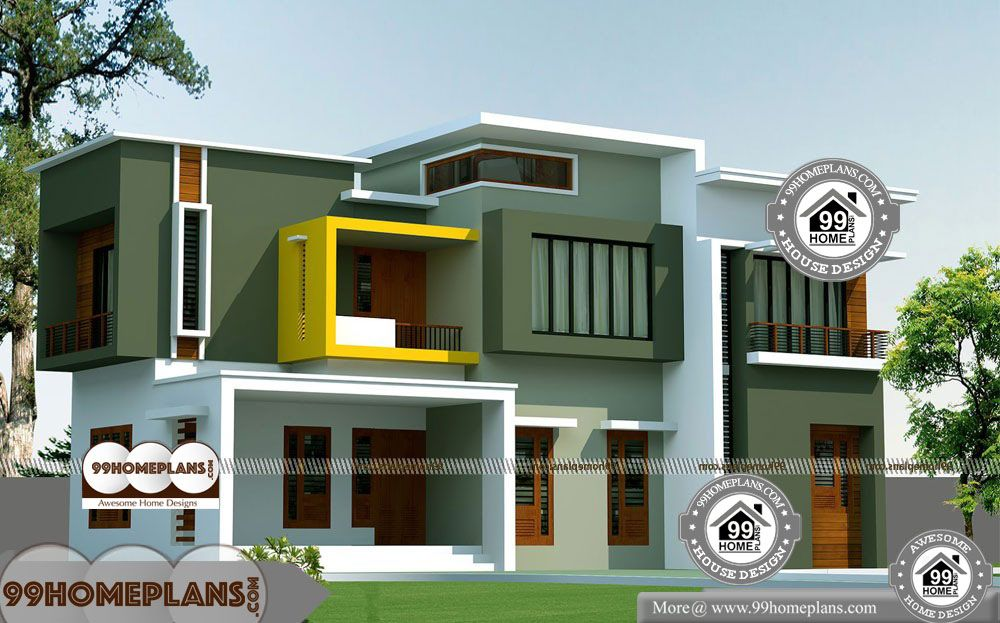 2 Story 4 Bedroom House Plans 2 Story 2500 Sqft Home 4 Bedroom House Plans Bedroom House Plans Kerala House Design
