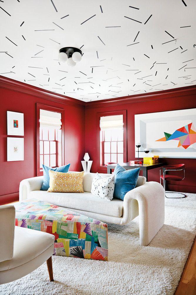 Angela Chrusciaki Blehm Artist Home With Bright Colors Living Room Design Inspiration Minimalist Living Room Decor Living Room Designs #red #and #yellow #living #room #ideas