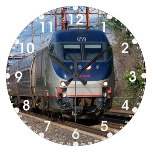 Amtrak Electric Locomotive HHP-8 #659  Wall Clock -SOLD-