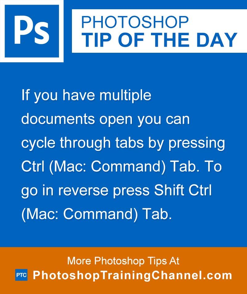 Cycle Through Tabs Keyboard Shortcut | Photoshop Tips