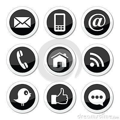 Facebook Logo Black And White Circle Contact Page Circle Black Social Media Buttons Social Media Rose Gold Business Card