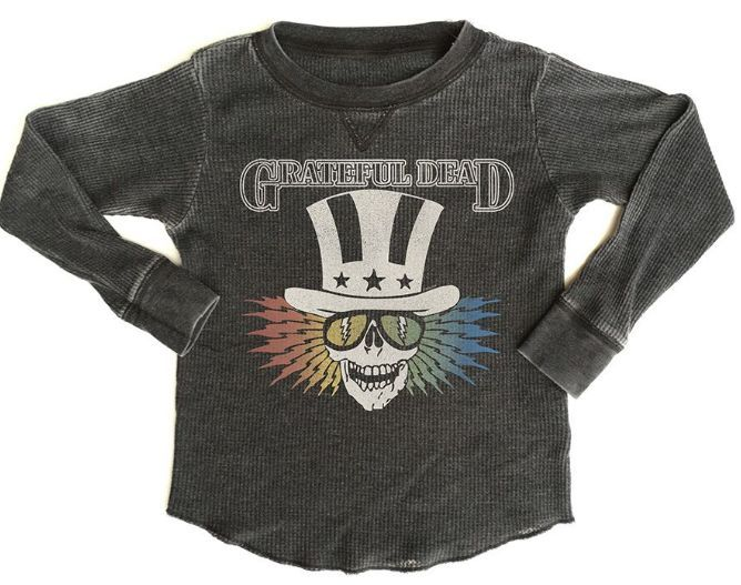 Rowdy Sprout Grateful Dead Thermal in Black