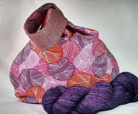 Japanese Knot Knitting Crochet Wip Project Bag Medium Size