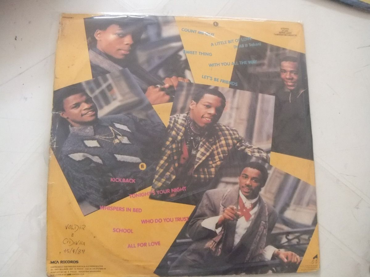 Back Of The Album Shot New Edition And Bobby Brown Bobby Brown