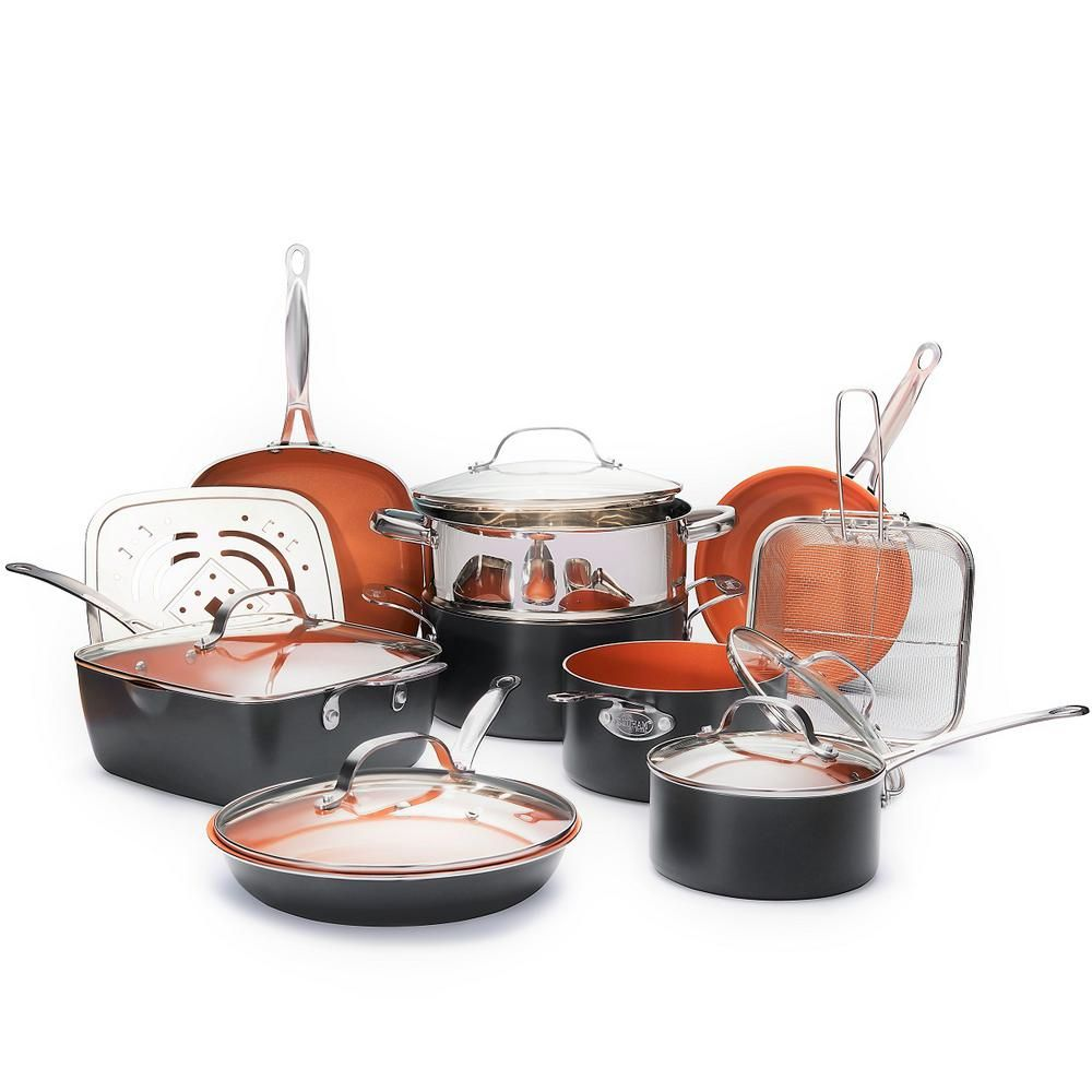 Gotham Steel 15 Piece Non Stick Ti Ceramic Cookware Set With