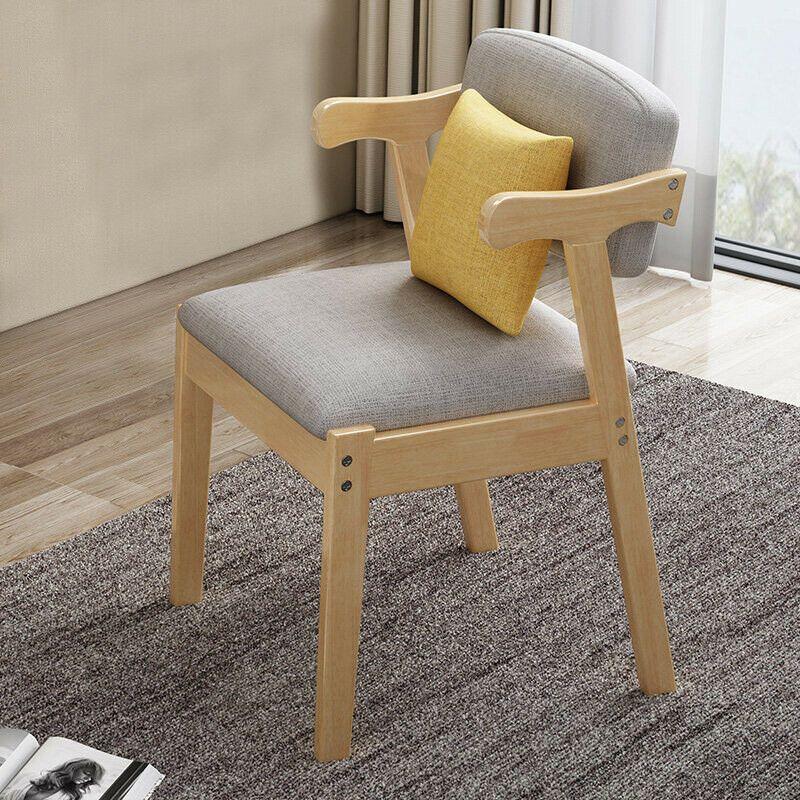 Home Dining Chair Fabric Cushion Side Chairs Modern