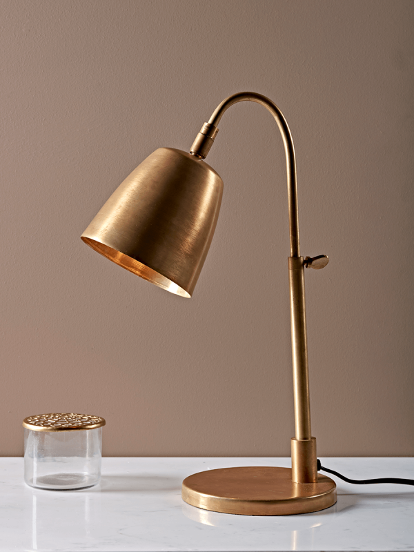 antique brass table reading lamp
