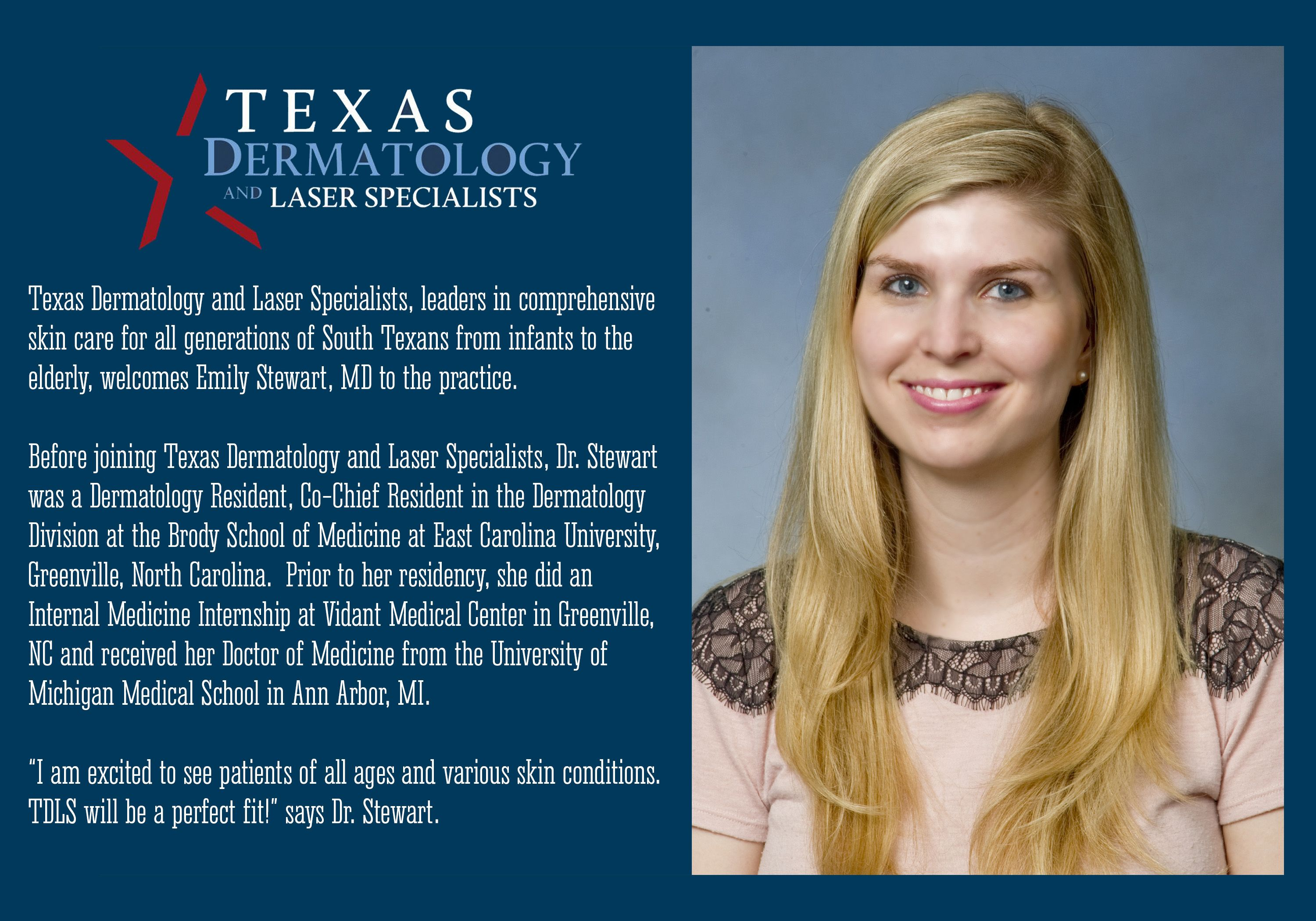 We are proud to welcome Dr  Emily Stewart to our practice