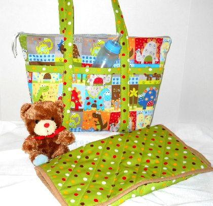 Whimsical Dinosaurs Diaper Bag Set