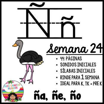Letra ñ Silabas ña ñe ño Spanish Resources For K 1