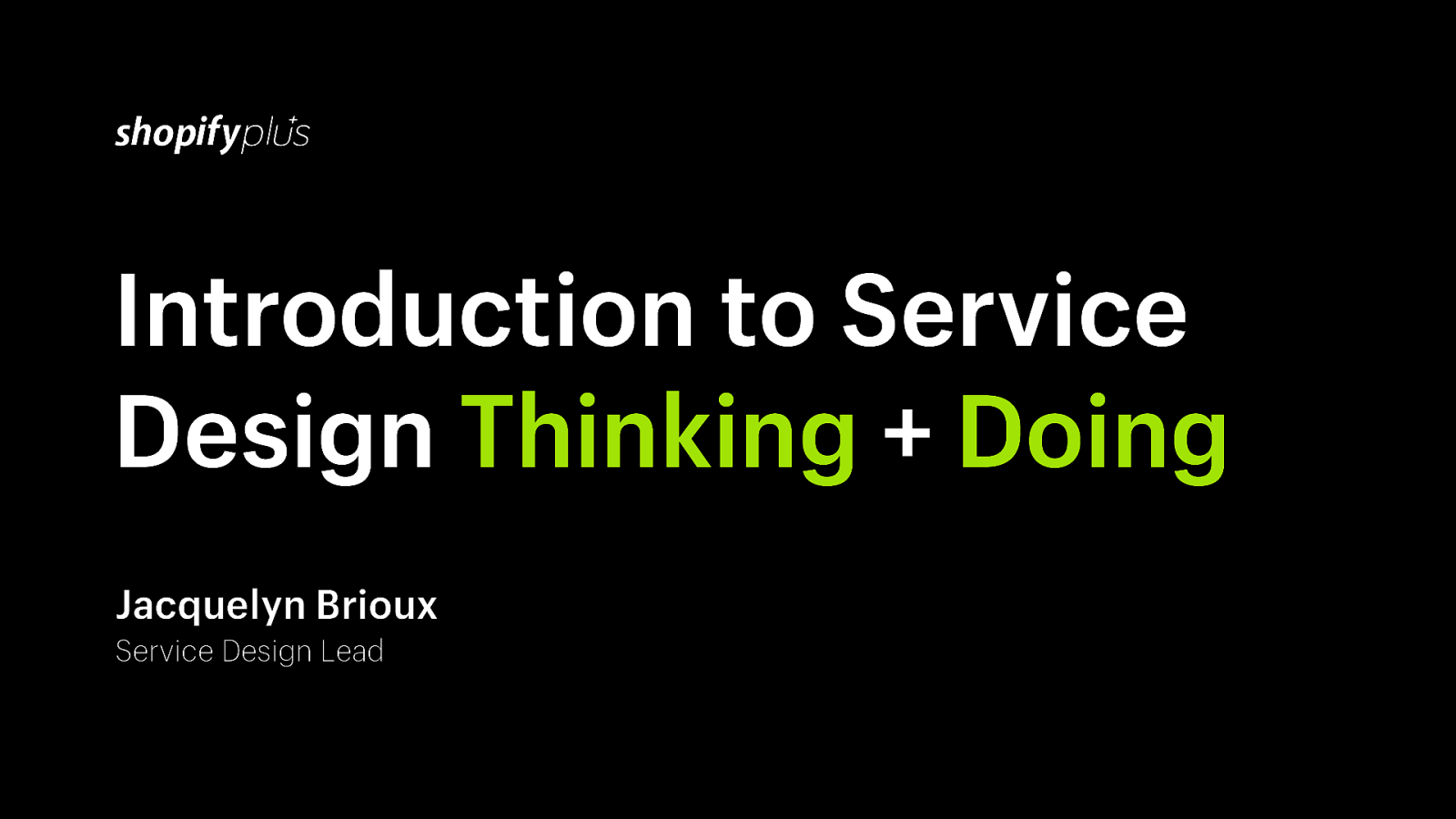 Introduction To Service Design Thinking Amp Doing By