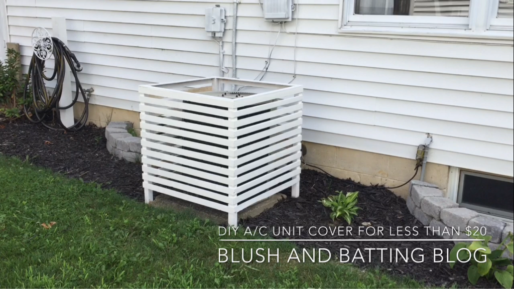 Build A Cover For An Outdoor Air Conditioning Unit For Less Than