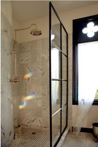 Renovation Inspiration: Windows As Shower Doors   Shower doors ...
