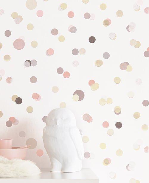 Tapete Confetti Rosa von Eijffinger für das moderne Kinderzimmer