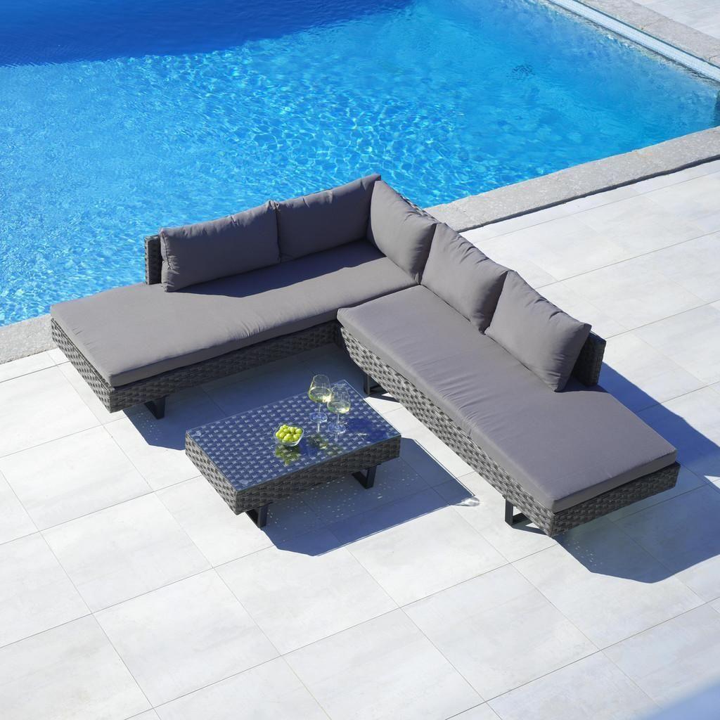 Loungegarnitur Martha Inkl Auflagen Rueckenkissen Dunkelgrau Schwarz Modern Glas Kunststoff Modern Living Lounge Mobel Lounge Lounge Garnitur