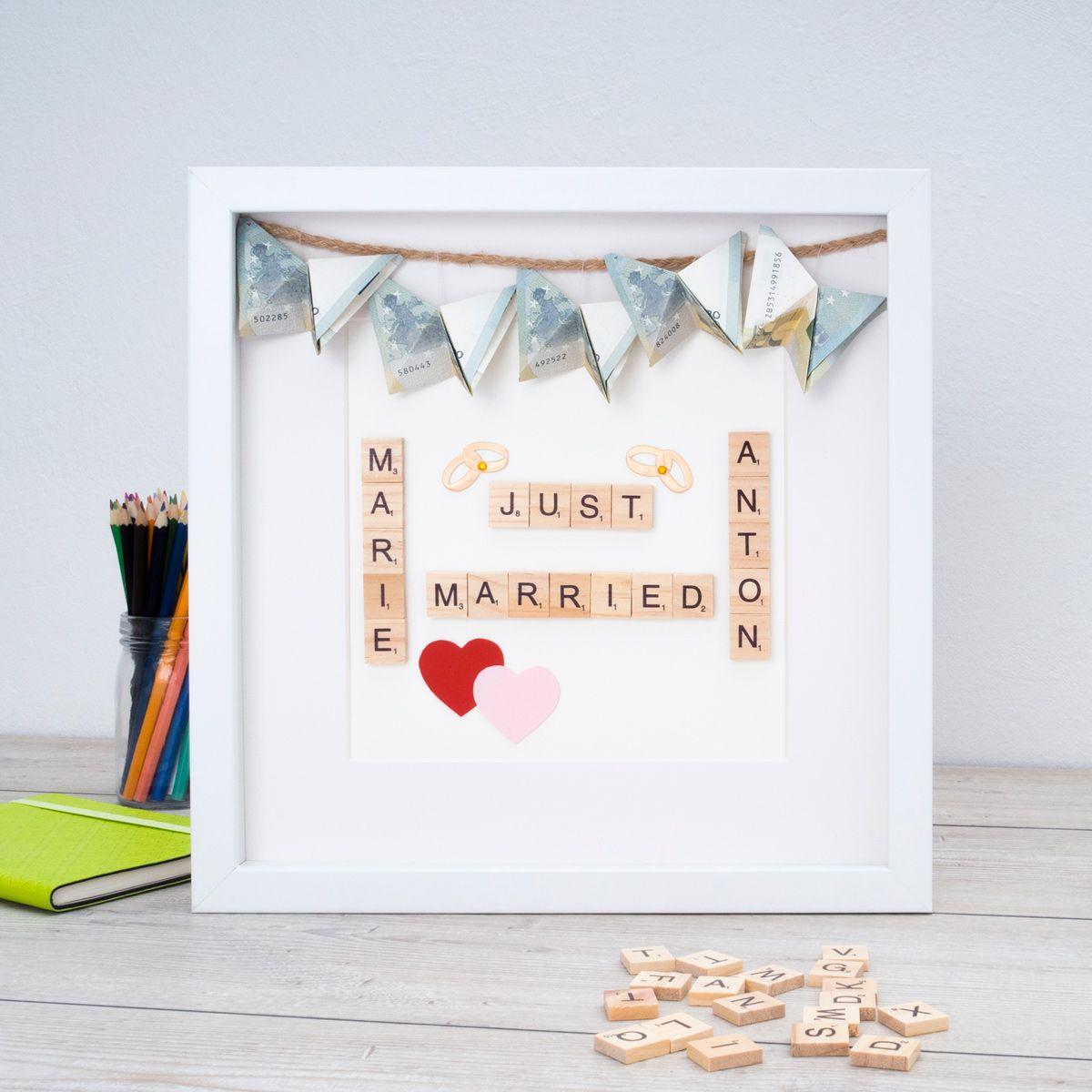 Geldgeschenk / Hochzeitsgeschenk im Objektrahmen 3D-Rahmen Tipps ...