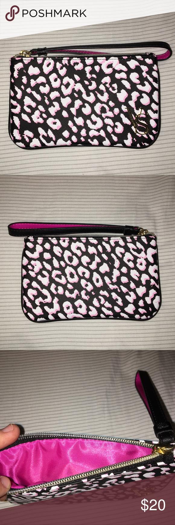 39fc184ecad NWOT victoria's secret clutch bag super cute victoria's secret pink, black,  and white clutch bag/ wallet... never used ... excellent condition :) gold  ...
