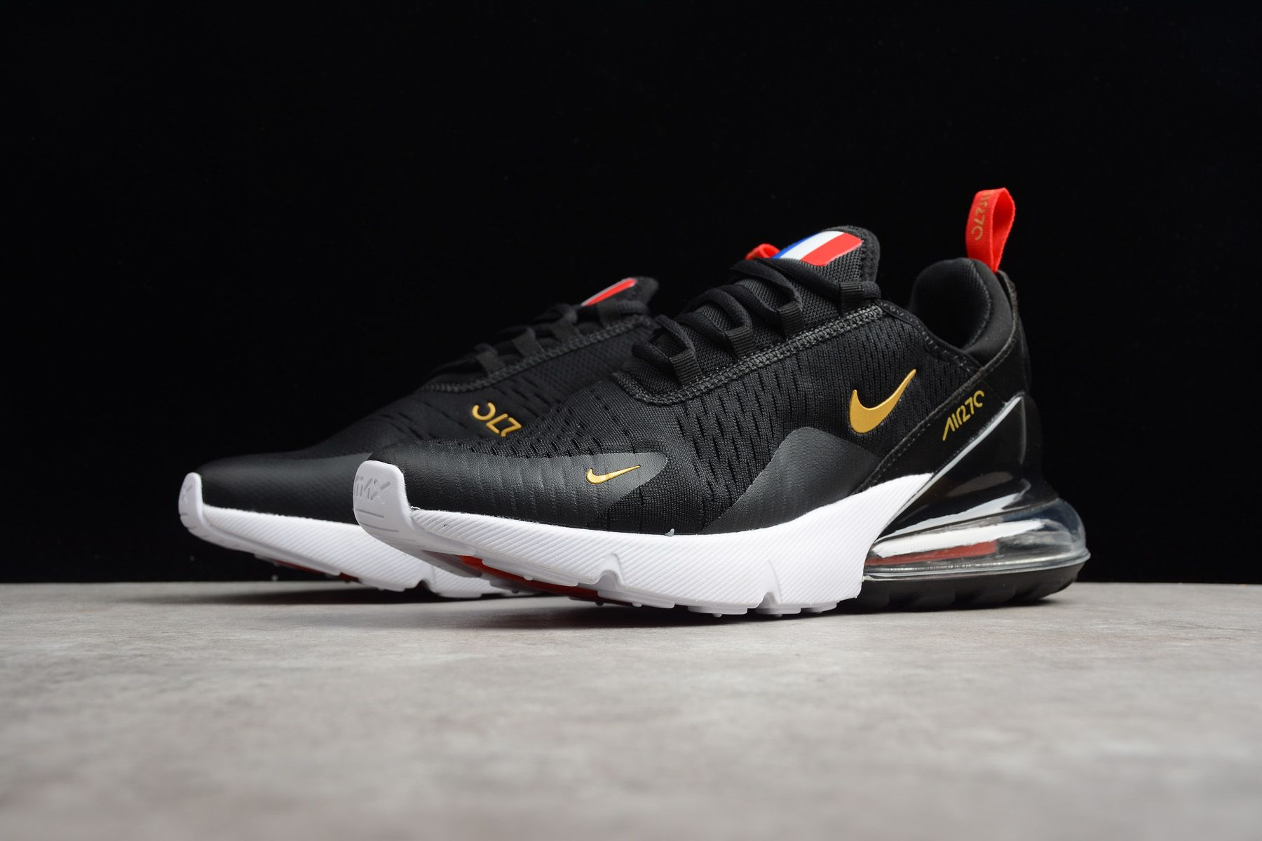 "f31d33b19cae5 Nike Air Max 270 Flyknit ""FIFA World Cup Russia 2018"" French Black Gold  AH8050-117"