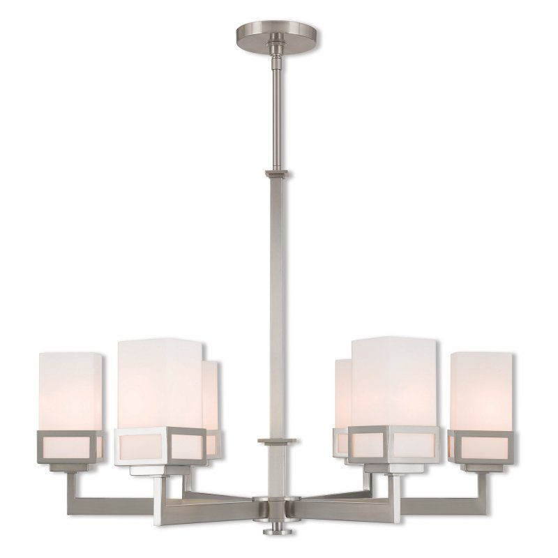 Livex lighting harding 6 light chandelier 40196 91