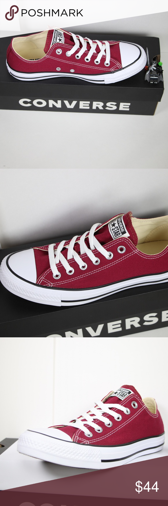 d7f1d2290e7a Maroon Classic Converse All Star Low Tops BRAND NEW in ORIGINAL BOX  100%  AUTHENTIC. Price is firm. More sizes available (listed below) in LOW TOPS    HIGH ...