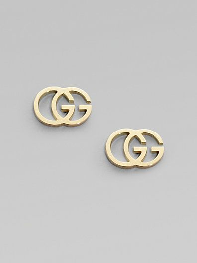 818be3c3fc1f55 Gucci - 18K Yellow Gold Double G Earrings - Saks.com #wishlist ...