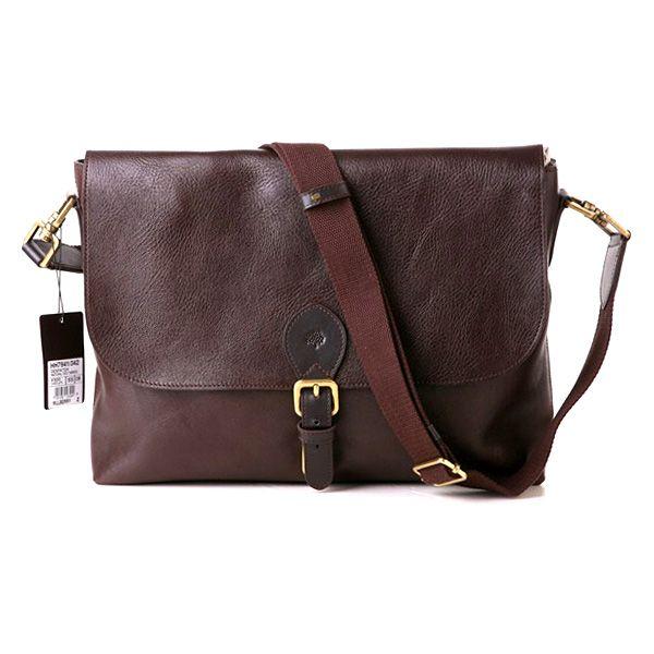 3a468d093fca5 Designer Mulberry Albert Satchel Natural Leather Messenger Bag Brown for Men
