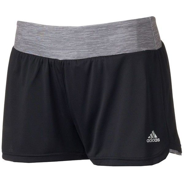 Women's Adidas climalite Grete Mesh Running Shorts ($18) ❤ liked on  Polyvore featuring activewear