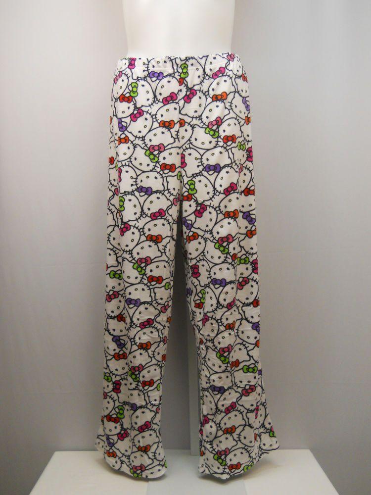 0728f5495 PLUS SIZE 3X Women Pajama Bottoms HELLO KITTY White Microfleece Sleep Pants  #HelloKitty #LoungePantsSleepShorts #Everyday
