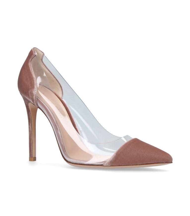 GIANVITO ROSSI Velvet Plexi Pumps 105. #gianvitorossi #shoes #
