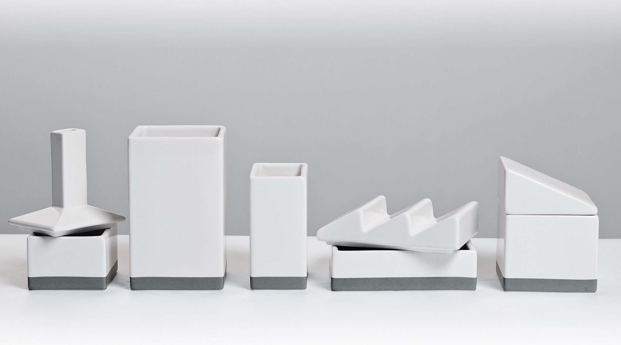 The Warehouse Porcelain Desk Organizer Set Design By Seletti Desk Organizer Set Desk Organization Modern Desk Accessories
