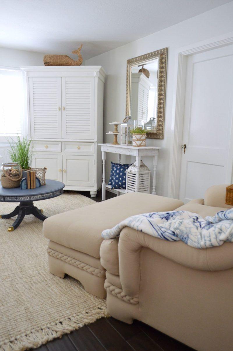 Nautical Living Room Design Extraordinary Neutral Navy Living Room Refresh  Navy Living Rooms Neutral And Design Inspiration
