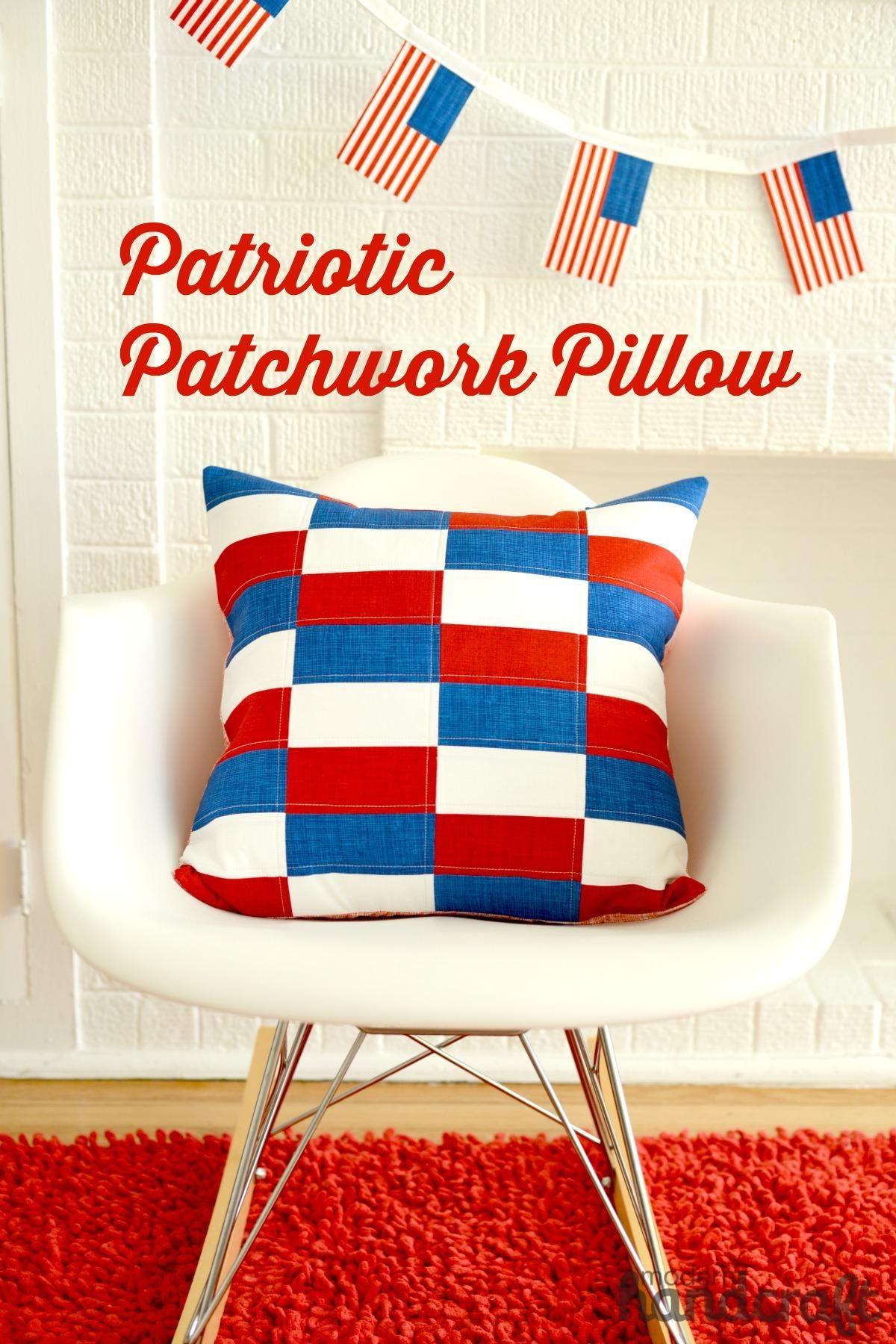 Diy Patriotic Patchwork Pillow