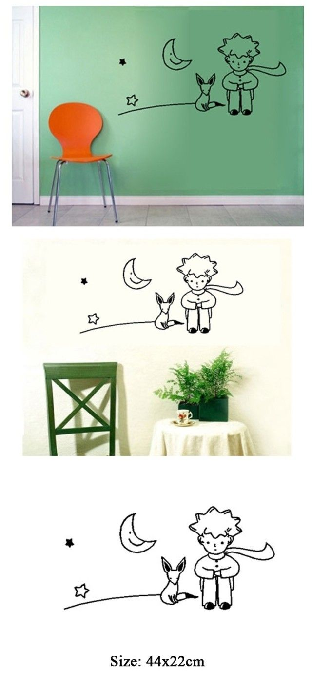 Aliexpress Decoration Maison Livraison Gratuite Petit Prince Fox Wall Sticker Kid Room Decor